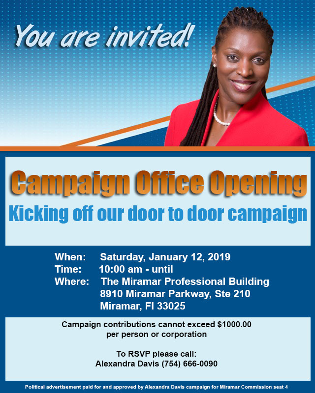 Campaign Office Opening – January 12, 2019